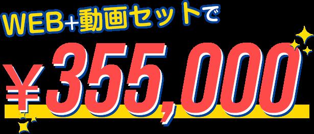 WEB+動画セットで\355,000
